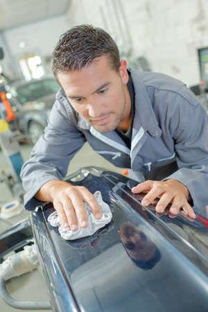 rejuvenate: Polishing a car Stock Photo