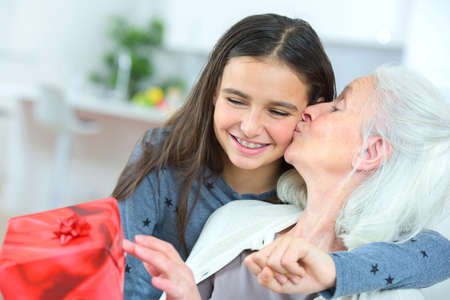 grandkids: Giving grandma a gift