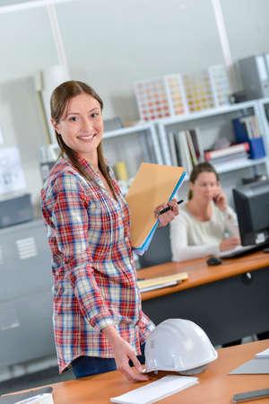 female architect: Female architect in the office Stock Photo