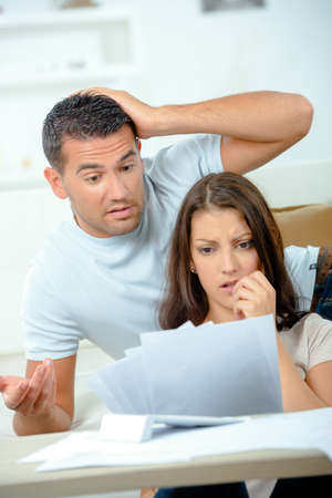 financial problems: Couple having financial problems