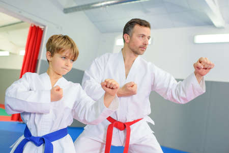 kata: Learning a martial art Stock Photo