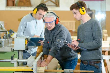apprenticeship: Woodwork apprenticeship Stock Photo