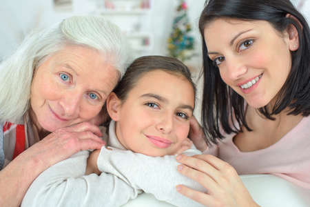 three generations of women: Three generations of women