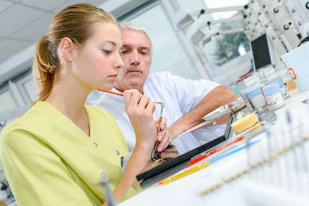 dental hygienist: Dental assistant Stock Photo