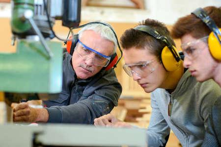 Holzarbeiten Lehre Lizenzfreie Bilder