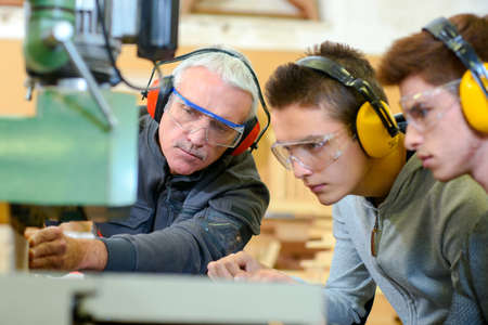 Woodwork apprenticeship Stock Photo - 45183679