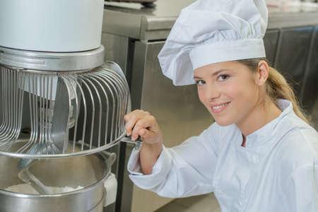 shredder machine: Industrial bakery machine Stock Photo
