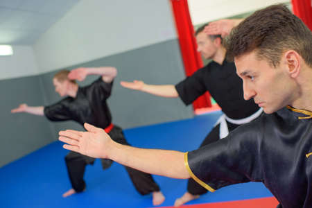 martial: Martial arts class in action