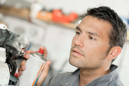 pulverizador: Mecánico que usa el aerosol de lubricación