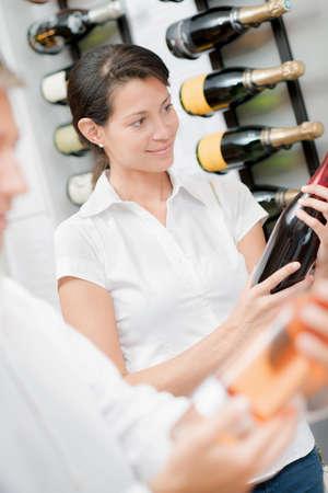 wine trade: Choosing a bottle of wine