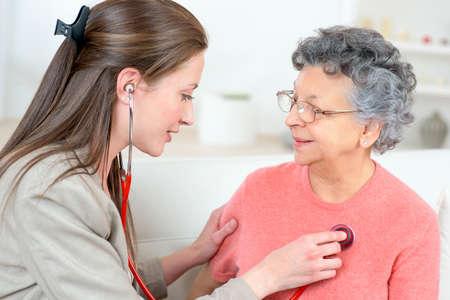 beat: Taking old ladys heartbeat