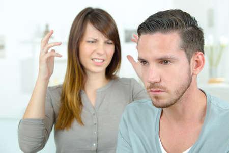 Couple going through a rough patch Stock Photo