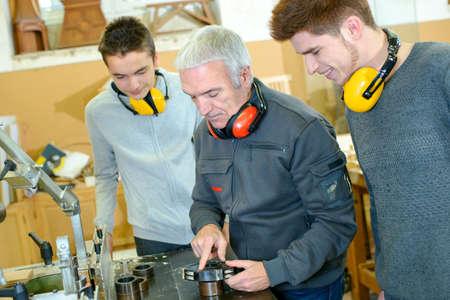 woodwork: Woodwork apprenticeship Stock Photo