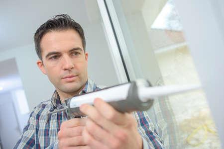 caulk: Caulking a new window frame