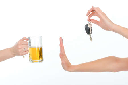 drink and drive: Dont drink and drive Stock Photo