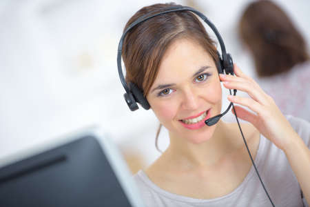 business centre: Call centre worker