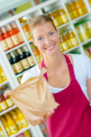 everyday jobs: Fruit market worker Stock Photo