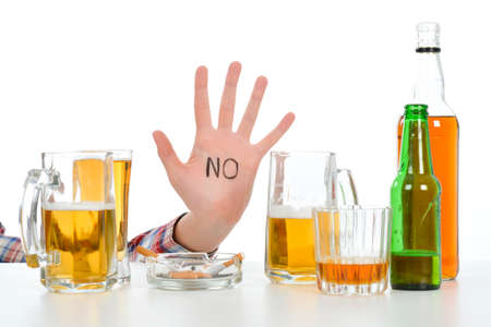 alcoholism: Woman suffering from alcoholism