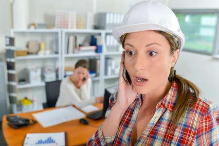 female architect: Shocked female architect