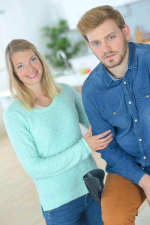 hobble: Helping her injured boyfriend