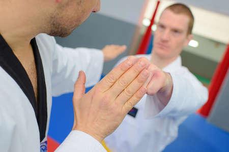 artes marciales: Entusiastas de los artes marciales Foto de archivo