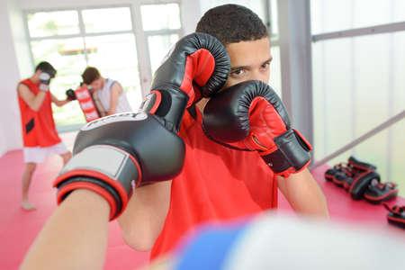 sportsmanship: boxing practise