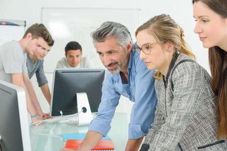 supervise: computer lab