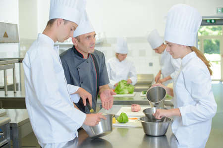 demonstration: cooking class Stock Photo