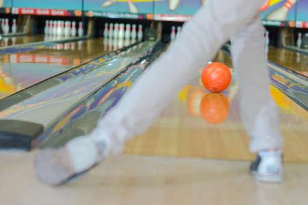 aim: bowler Stock Photo