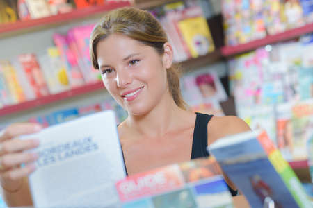 periodical: customer in the magazine shop