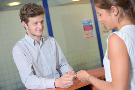 front desk: flirting in the front desk