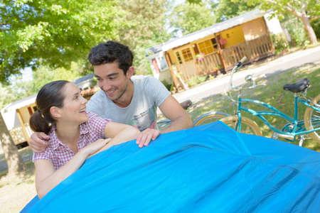 campsite: Couple on campsite