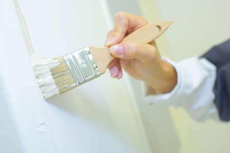 chiseled: brushing Stock Photo