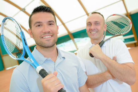 serf: two tennis players