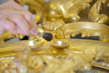 tedious: cleaning gold