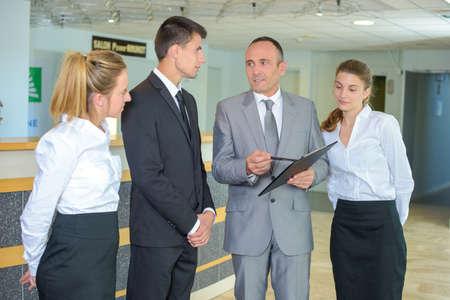 gestion de l'hôtel Banque d'images