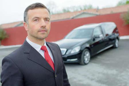 hearse: man with a nice car