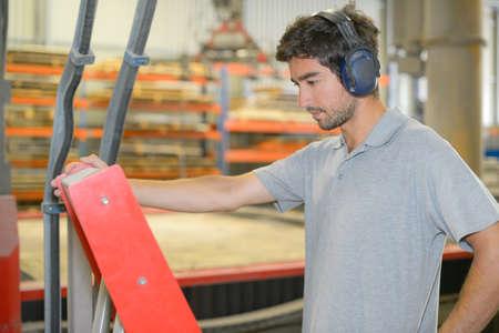 industrial noise: industrial worker