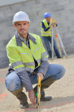 verifying: Worker on a building site