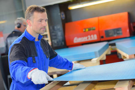aluminium: factory employee