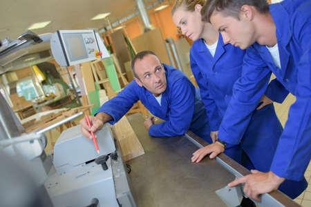 tradesman: Tradesman with two apprentices