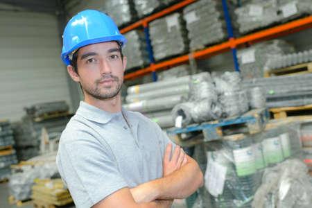 Travailleur confiant Banque d'images - 49527536