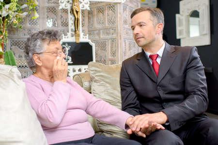 sorrowful: sorrowful elderly woman