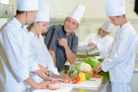assigned: chef and his students