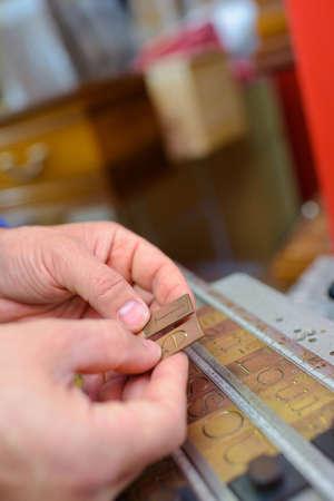 engraver: letter engraver