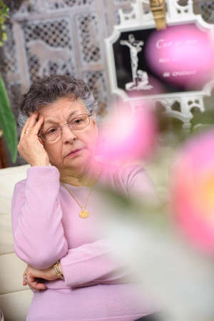 grieving: woman grieving Stock Photo