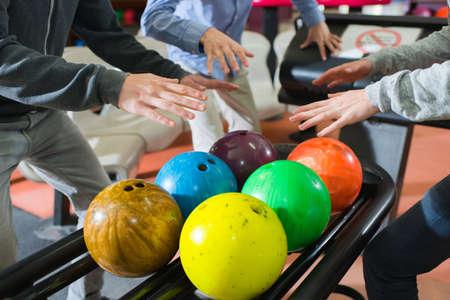 favored: bowling balls Stock Photo