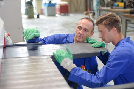 metal sheet: inserting metal plates