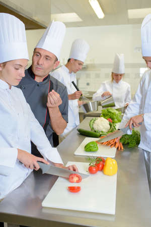 perfectionist: perfectionist chef Stock Photo