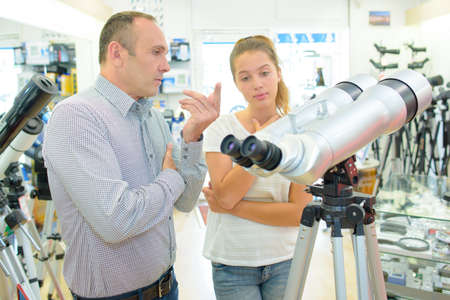 wavelengths: telescope shop Stock Photo